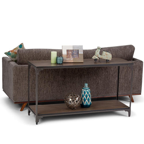 Nantucket 54 x 18 inch Console Sofa Table in Walnut Brown