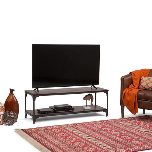 Nantucket 54 x 18 inch TV Media Stand in Walnut Brown for TVs up to 60 inches