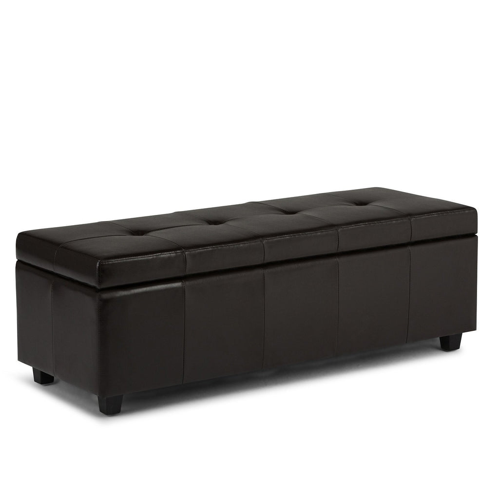 Castleford Bonded Leather Storage Ottoman