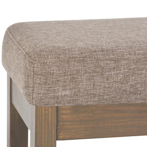 Large Fawn Brown | Milltown 44 inch Large Ottoman Bench in Linen Look Fabric