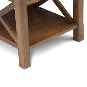 Medium Saddle Brown | Kitchener 20.5 inch End Side Table