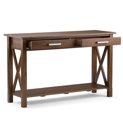 Medium Saddle Brown | Kitchener 47.5 inch Console Sofa Table
