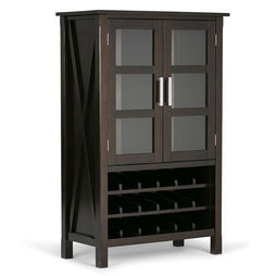 Hickory Brown | Kitchener High Storage Wine Rack