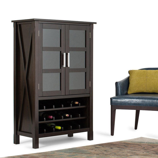 Load image into Gallery viewer, Hickory Brown | Kitchener High Storage Wine Rack