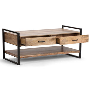 Natural Mango Wood | Riverside 47.5 inch Coffee Table
