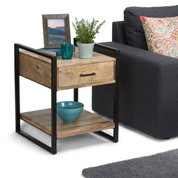 Natural Mango Wood | Riverside 22 inch End Side Table