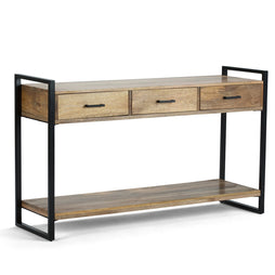 Natural Mango Wood | Riverside 54.5 inch Console Sofa Table