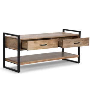 Natural Mango Wood | Riverside 48 inch Entryway Bench