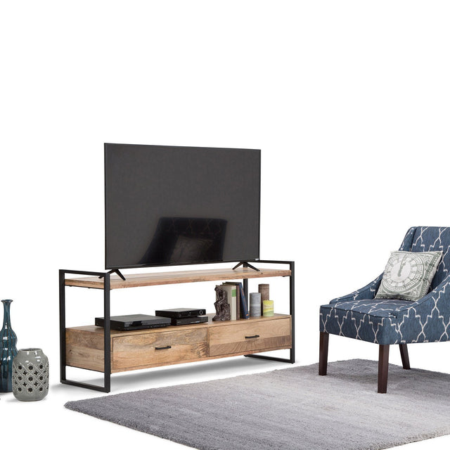 Load image into Gallery viewer, Natural Mango Wood | Riverside 60 inch TV Media Stand