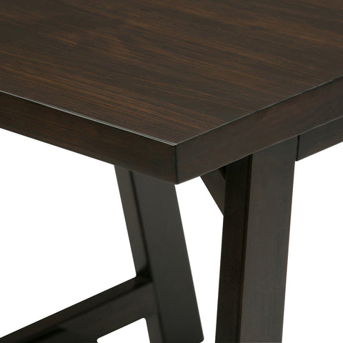 Dark Chestnut Brown | Sawhorse 22 inch End Side Table