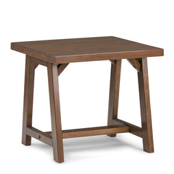 Medium Saddle Brown | Sawhorse 22 inch End Side Table