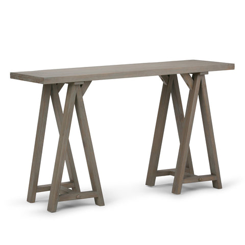 Distressed Grey | Sawhorse 50 inch Console Sofa Table