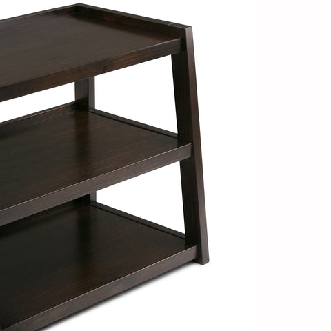 Dark Chestnut Brown | Sawhorse 60 inch Wide TV Media Stand
