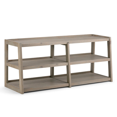 Distressed Grey | Sawhorse 60 inch Wide TV Media Stand