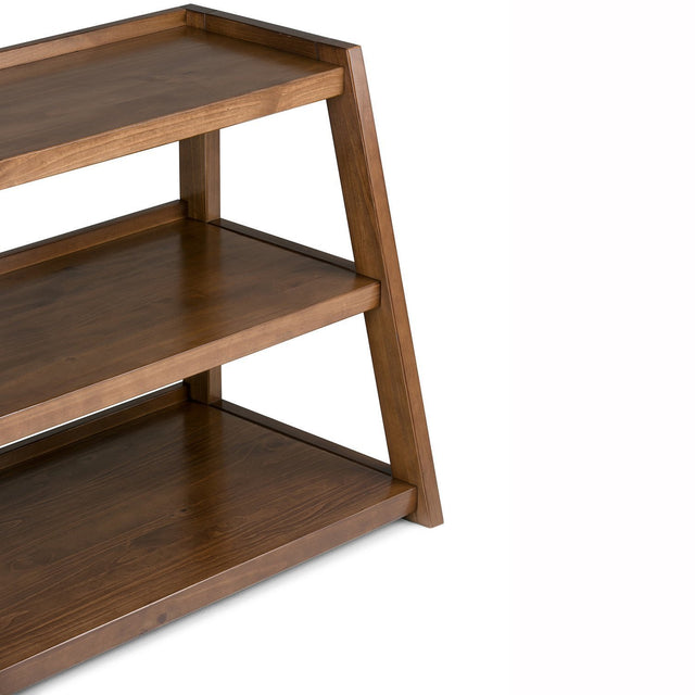 Load image into Gallery viewer, Medium Saddle Brown | Sawhorse 60 inch Wide TV Media Stand