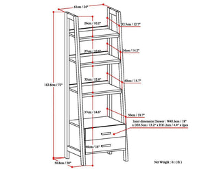 Sawhorse 24 inch Ladder Shelf with Storage