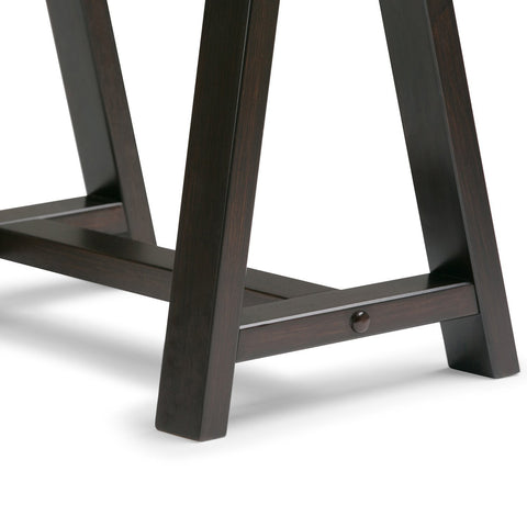 Dark Chestnut Brown | Sawhorse 60 inch Desk