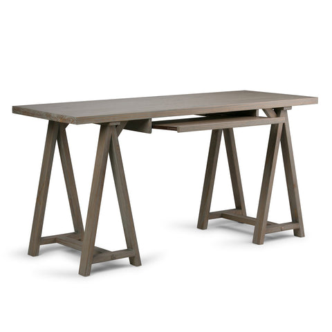 Distressed Grey | Sawhorse 60 inch Desk