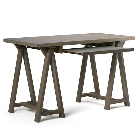 Distressed Grey | Sawhorse 50 inch Small Desk