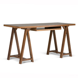 Medium Saddle Brown | Sawhorse 60 inch Desk