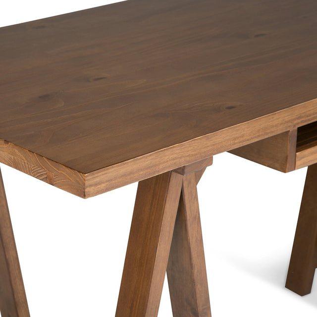 Load image into Gallery viewer, Medium Saddle Brown | Sawhorse 60 inch Desk