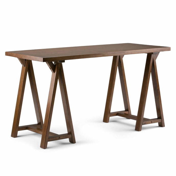 Medium Saddle Brown | Sawhorse Writing Desk