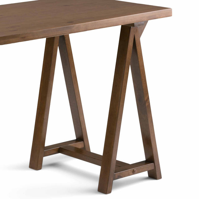 Load image into Gallery viewer, Medium Saddle Brown | Sawhorse Writing Desk