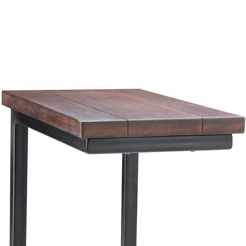 Dark Cognac Brown | Skyler 18 inch C Side Table
