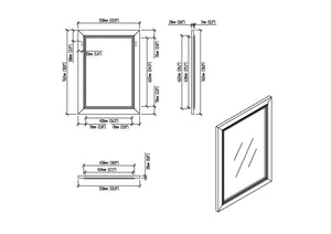 22 inch x 30 inch | Cambridge Off White Mirror