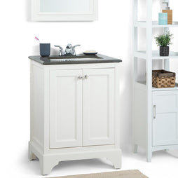 24 inch | Cambridge Off White Bath Vanity