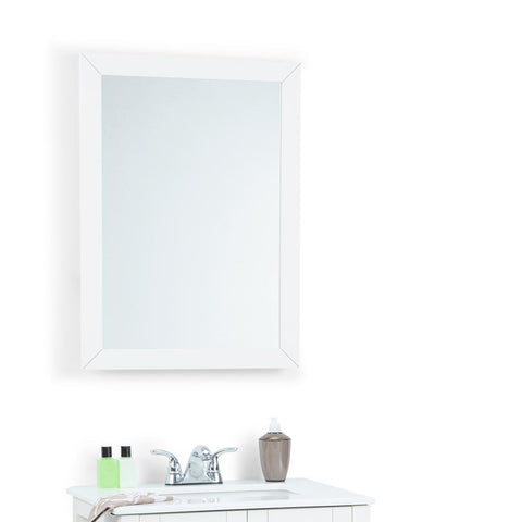 22 inch x 30 inch | Cape Cod Soft White Mirror