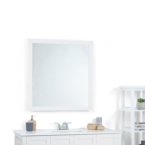 Large 32 inch x 34 inch | Cape Cod Off White Mirror