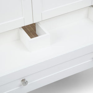 Cape Cod 36 inch Bath Vanity with White Engineered Quartz Marble Top