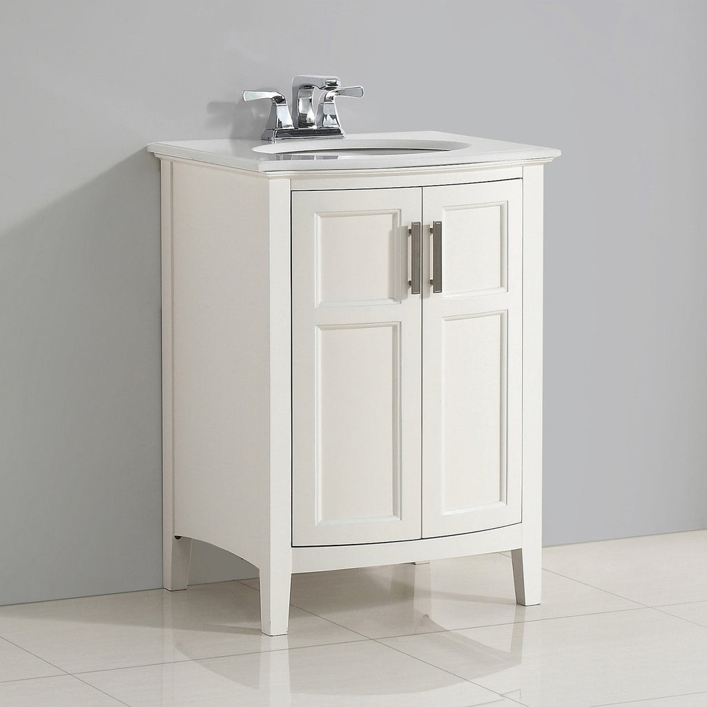 Groovy Winston 24 Inch Rounded Front Bath Vanity With Bombay White Ibusinesslaw Wood Chair Design Ideas Ibusinesslaworg