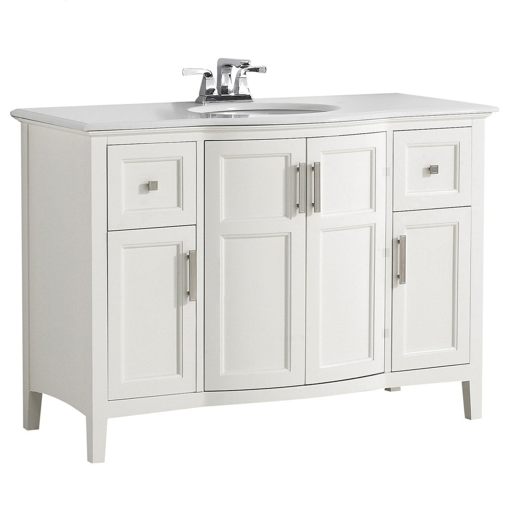 Winston 48 inch Rounded Front Bath Vanity with Bombay ...