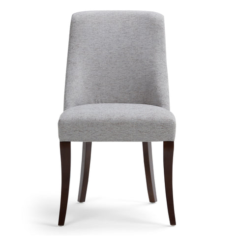 Grey Linen Look Polyester Fabric | Walden Linen Look Deluxe Dining Chair (Set of 2)