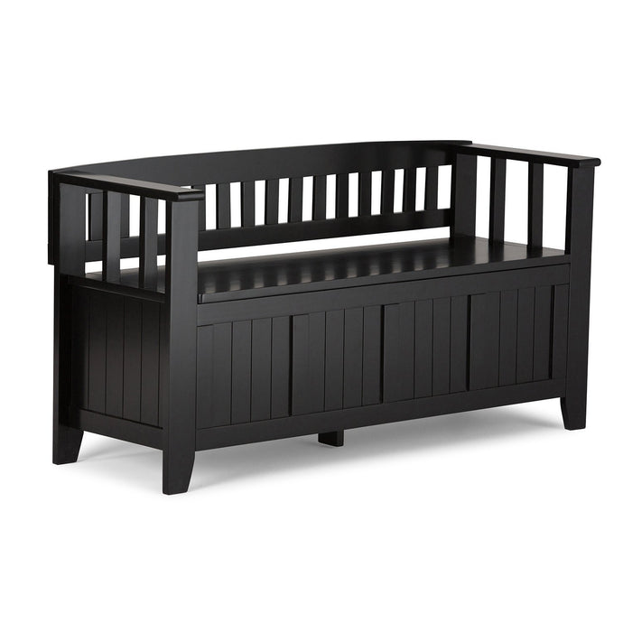Black | Acadian Entryway Bench