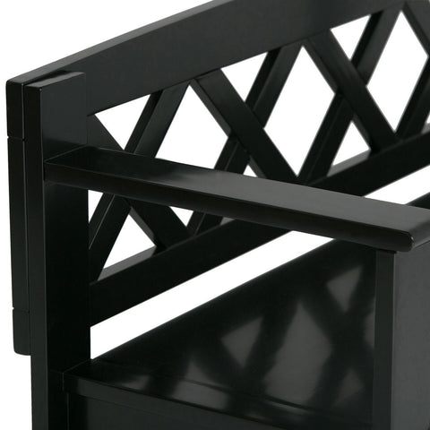 Black | Amherst Entryway Bench