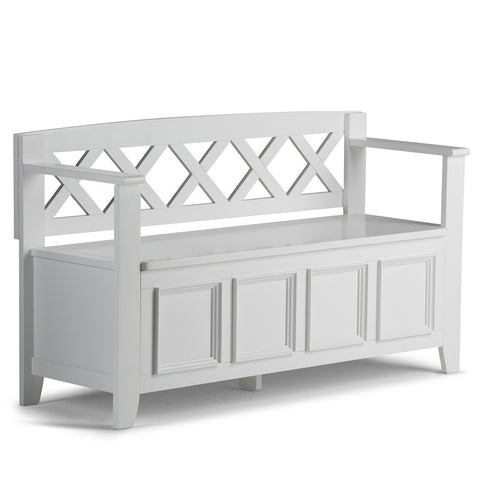 White | Amherst Entryway Bench