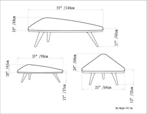 Aubrey 3 Pc Nesting Coffee Table Set