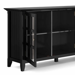 Black | Acadian Wide Storage Cabinet
