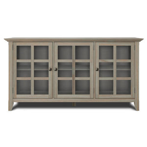 Distressed Grey | Acadian Wide Storage Cabinet