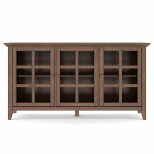 Rustic Natural Aged Brown | Acadian Wide Storage Cabinet