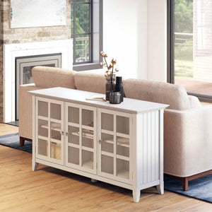 White | Acadian Wide Storage Cabinet