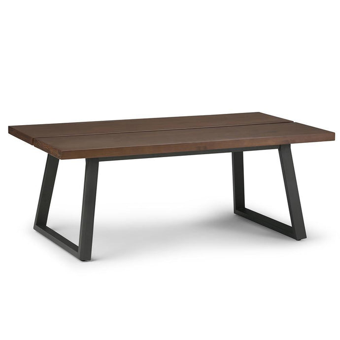 Adler Solid Wood Coffee Table in Light Walnut Brown