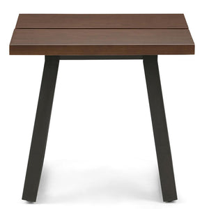 Adler Solid Wood End Side Table in Light Walnut Brown
