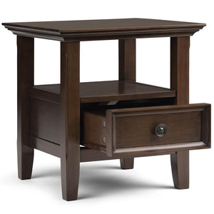 Natural Aged Brown | Amherst End Side Table