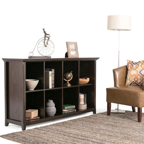 Hickory Brown | Amherst 8 Cube Storage/Sofa Table