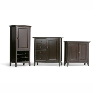 Dark Brown | Amherst High Storage Wine Rack