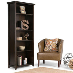 Hickory Brown | Amherst 5 Shelf Bookcase